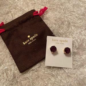 Purple Kate Spade Gem Stone Stud earring